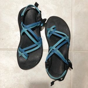 Chacos Shoes - Chacos with Blue Straps